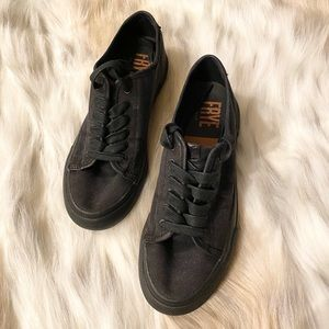 Frye Gia Canvas Low Lace Sneaker